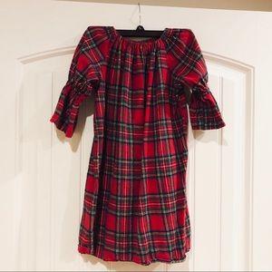 Handmade Etsy Red Tarten Plaid Dress Size 7/8